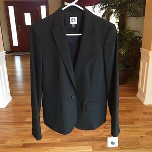 Anne Klein Wool-Blend Blazer Black size 10